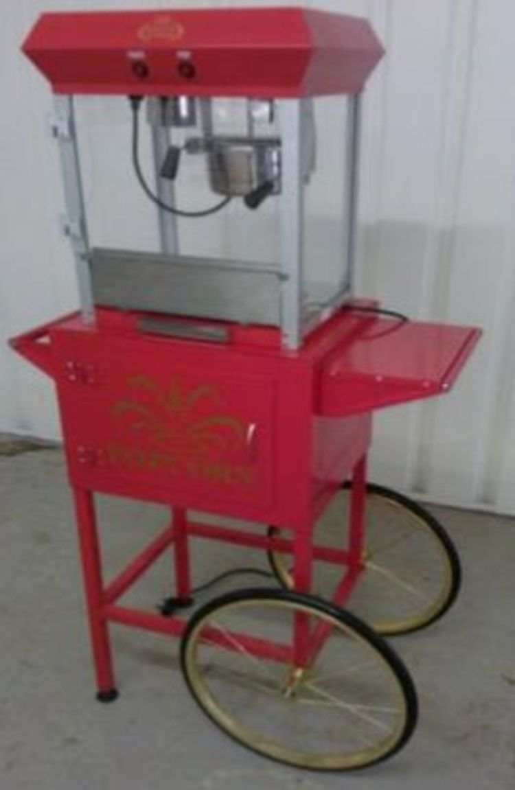 Popcorn cart machine hire kent, london, essex, surrey, sussex, whitstable, herne bay, canterbury and faversham